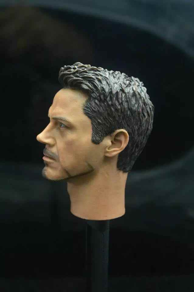 Personalizado 1/6 Scale Guerra Civil Tony Stark Chefe Sculpt Para Hot Toys Figura Do Corpo
