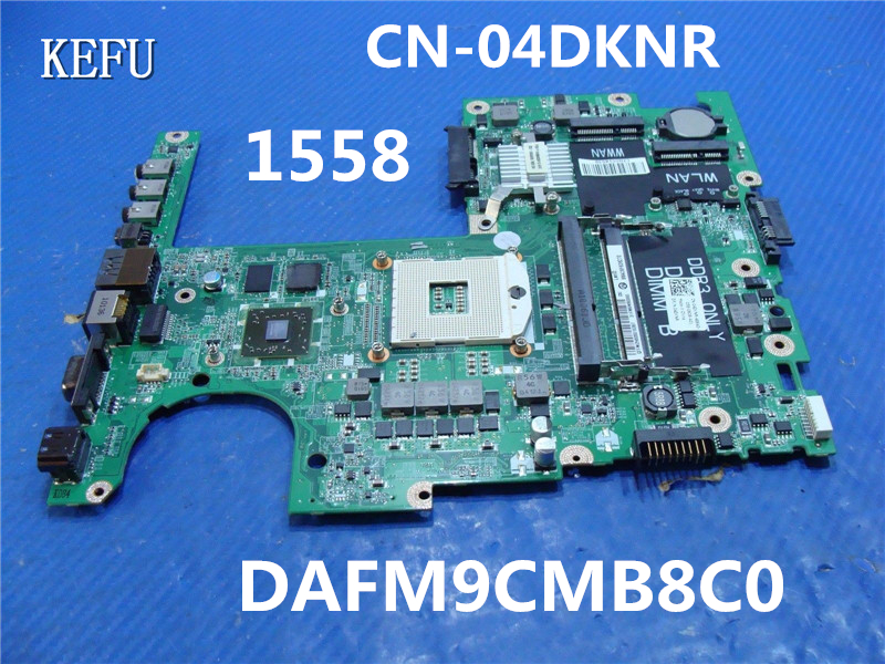 KEFU Free Shipping For Dell 1558 Laptop Motherboard CN 04DKNR 1GB DAFM9CMB8C0 100 Tested