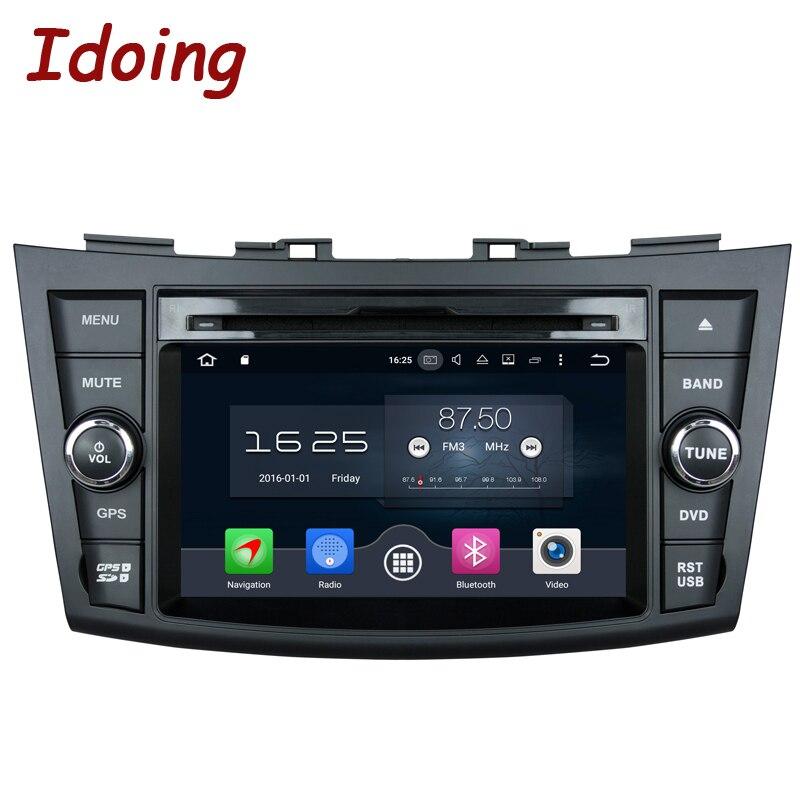 Idoing 7 Руль-штурвал 2Din dvd-плеер автомобиля Android 8,0 для Suzuki Swift Мультимедиа Навигация HD Экран Bluetooth 4 г + 32 г Встроенная память ...