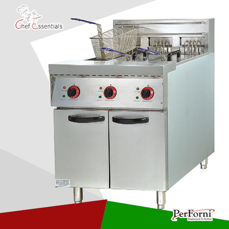 PKJG-DF26.3 Electric 3-Tank Fryer, 3-Basket, Freestanding Type, for Commercial Kitchen salter air fryer home high capacity multifunction no smoke chicken wings fries machine intelligent electric fryer