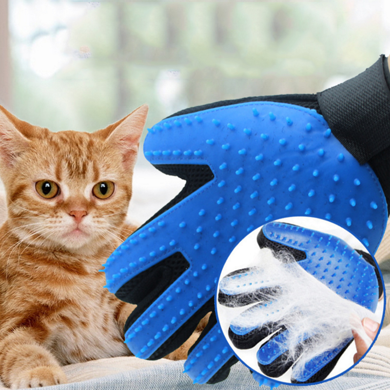 Pet Cat Glove For Cats Animal Comb Grooming Supply Cleaning Glove Deshedding Right Hand Hair Removal Brush Finger Cleaning Brush