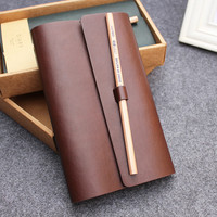 MIRUI Creative Travel Business Diary PU Leather Cover Planner Notebook Diary Book Notepad Gift Stationery Escolar Memory