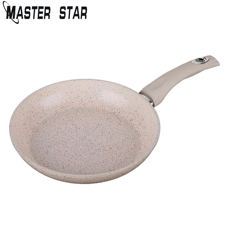 Master Star 20CM Chinese Medical Stone Frying Pan Aluminum Alloy Non-stick Skillets General Use For Gas And Induction Cooker Pot
