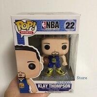 Chính thức Funko pop NBA Super Star Cầu Thủ Bóng Rổ-Klay Thompson Vinyl Hành Động Hình Sưu Tập Mô Hình Toy cho Người Hâm M