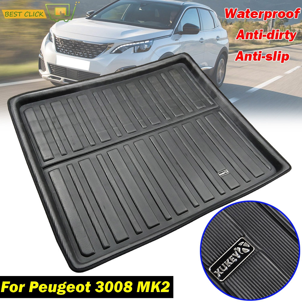 For Peugeot 3008 II MK2 2017 2018 2019 Rear Cargo Liner Boot Mat Tray Mud Waterproof Pad Protector Tailored Trunk Liner