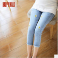 New Summer Belly Band&Support Pants For Pregnant Women Elastic Waist Maternity Clothes Denim Capri Short Jean Pregnancy Trousers