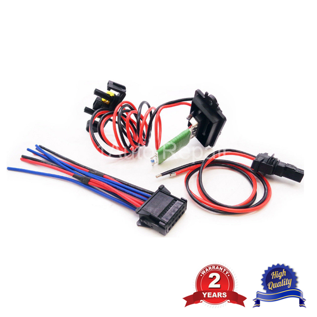 Ventilation Blower Heater Resistor And Wire Harness Loom