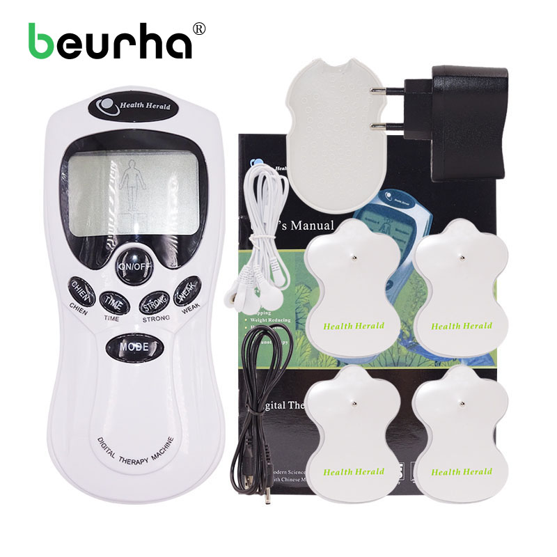 Tens Acupuncture Electrical Massager Device With Electrode Pads Musle Relax Massage Pulse Machine Health Care Equipment neck cervical traction device inflatable collar household equipment health care massage device nursing care