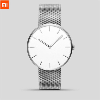 Xiaomi TwentySeventeen Analog Quartz Wrist Watch 39mm Luminous Water Resistant Fashion Men Women Luxury Steel Watch Best Gift Women Quartz Watches