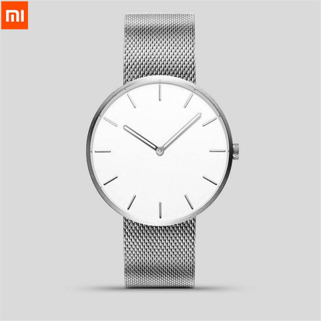 Xiaomi TwentySeventeen Analog Quartz Wrist Watch 39mm Luminous Water Resistant Fashion Men Women Luxury Steel Watch Best Gift