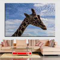 Large size Printing Oil Painting animal africa giraffe Wall painting POP Art Wall Art Picture For Living Room painting No Frame