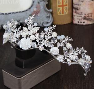 Image 3 - Hat Bridal Wedding Hat Sets Womens Bridal Hat Vintage Crystal Wedding Accessories Fashion