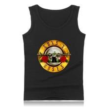Рок-Группы Guns N 'Roses Майка Мужчины Рукавов Рубашки и Уличный Стиль Бодибилдинг Одежда Мода Лето Жилет Плюс размер
