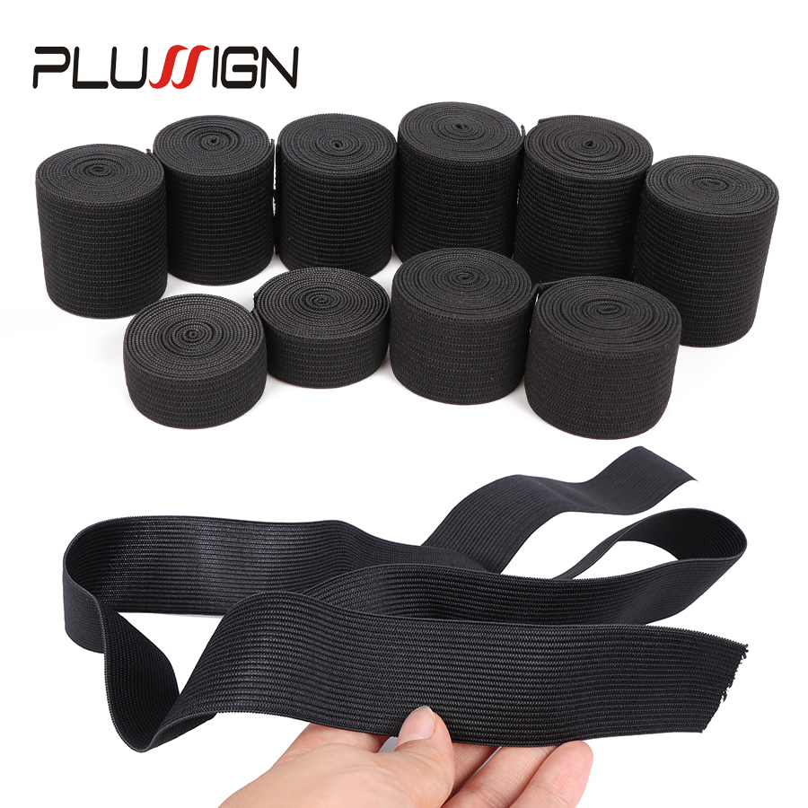 Wholesale Plussign Elastic Band For Wigs Nylon Band 25Mm Sewing Rubber Strong 1M/Pack With Heavy Stretch For Waistband