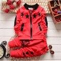 BibiCola Одежда Устанавливает новые мальчиков/девочек рождество костюм установить с длинным рукавом дети наряды костюмы Zip кардиган звезды спорта костюм