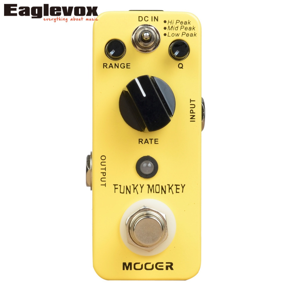 MOOER Funky Monkey Auto Wah Electric Guitar Effect Pedal True Bypass Mini Effects valeton katfish guitar effect auto wah pedal highly accurate pristine tone true bypass caw 1