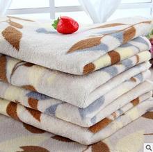 New Cute Floral Pet Sleep Warm Paw Print Dog Cat Puppy Fleece Soft Blanket Beds Mat 59*39CM