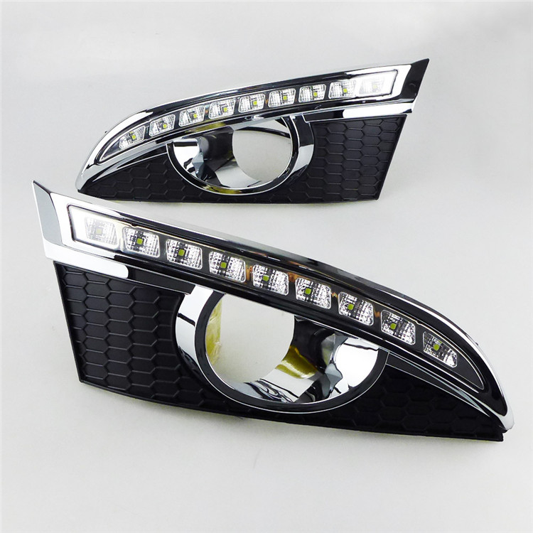Best Quality Car LED DRL 12v Daytime Running Lights With Turn Signal light For CHEVROLET CAPTIVA 2011 2012 With Fog Lamp Hole