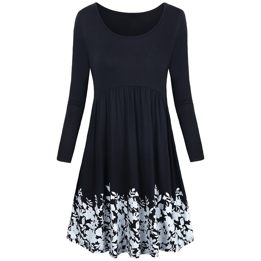 16cde174d5d Long Swing Dress With Pockets