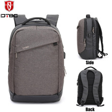 DTBG 15.6 Inch Fashion Outdoor Luggage Laptop College Student Business Backpack Hiking Bag with USB Charging Port Rucksack
