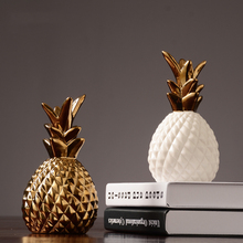 Creative ceramic pineapple ornaments Modern minimalist Nordic bedroom room wine cabinets living decorations