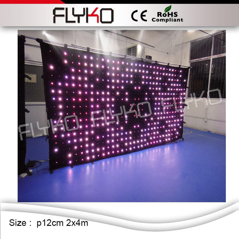 P12 2mx4m 2016 sex movies display led video curtain for stage backdrop led video curtain display
