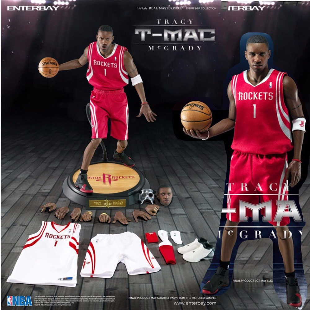 Enterbay eb 1/6 nba tracy mcgrady collectible male sport star 1/6th action...