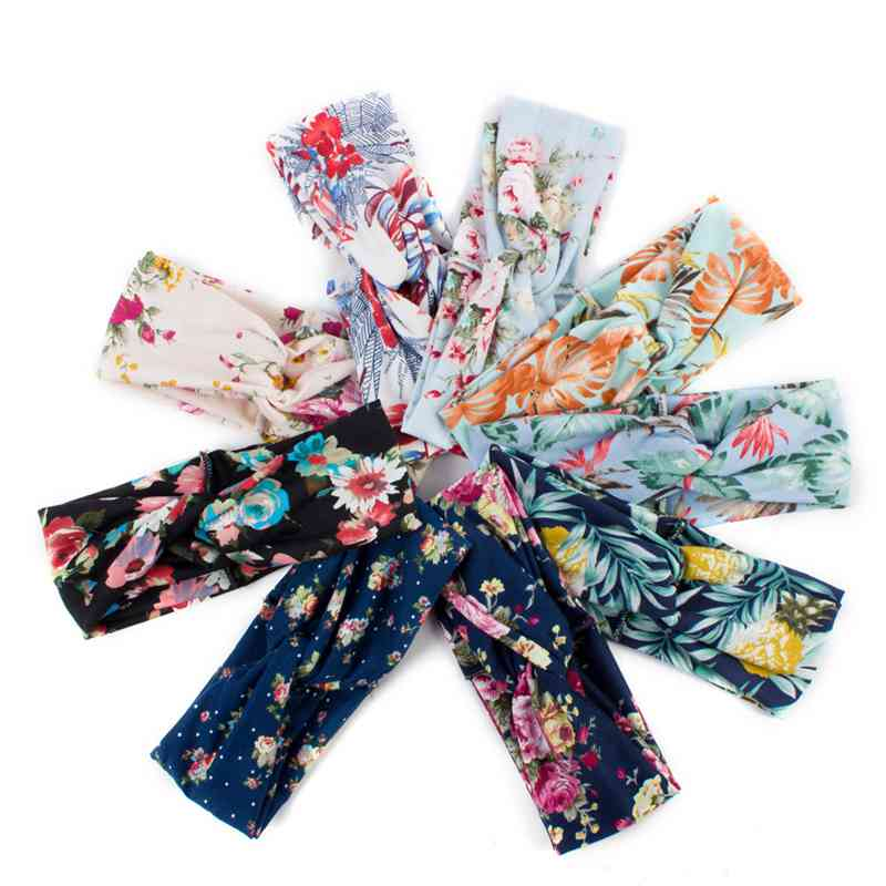 MYZOPER New Fashion 2019 Printing Tie Casual hair Accessories Tide Women Personality Scrunchie Hair Hoop