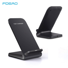 FDGAO Qi Wireless Charger USB 10W Fast Dock Stand For iPhone X Xs MAX XR 8 plus Samsung S8 S9 S10 Xiaomi Mix 2s 3