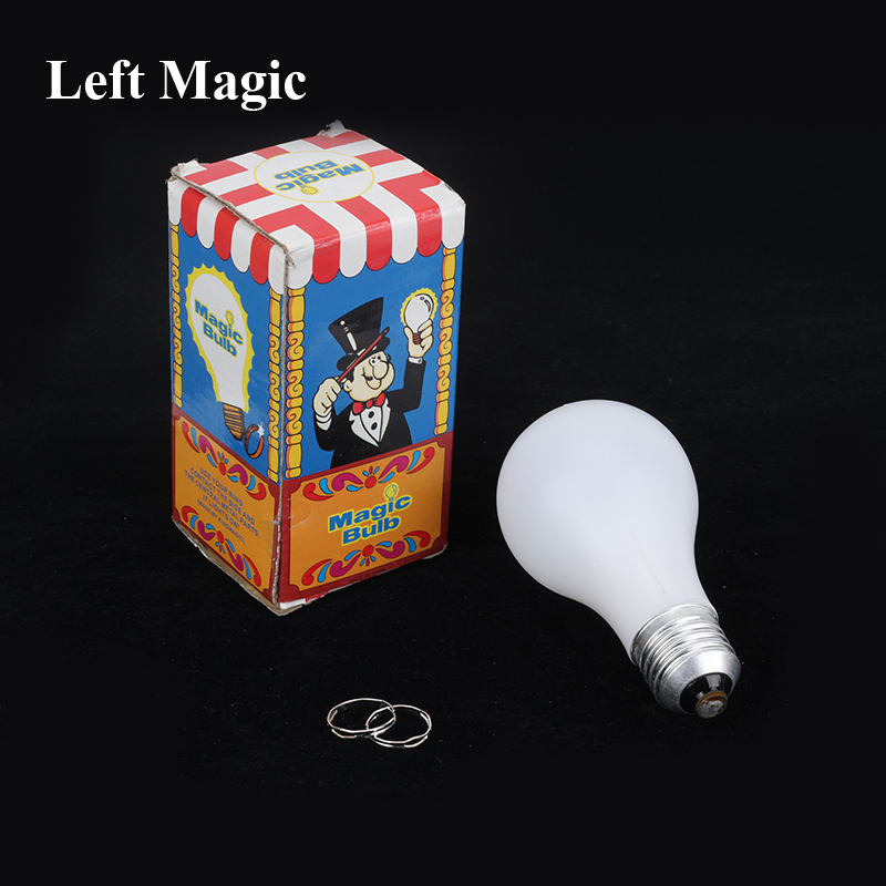 Magic Light Bulb - Mentalism Magic Tricks Lamp Magic Trick  Ring Close Up Stage Magic Props Magician Illusions