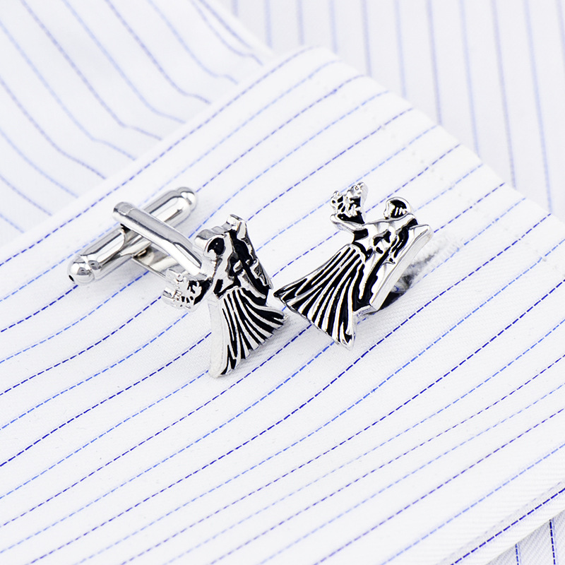 Bridegroom Wedding Business Men French Shirts Cuff Links Virgo Constellation Cufflinks Silvery Enamels Cufflink With Gift Bag in Tie Clips Cufflinks from Jewelry Accessories