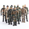 Starz Army Navy Airman Soldier Military Models PVC Action Figures Boy Toys Kid Children Gifts (Random Type)