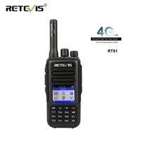 RETEVIS RT51 Poc Walkie Talkie Ham Radio 4G LTE FDD Support SIM Card Network GPS Two Way Radio Nationwide Unlimited Talkrange