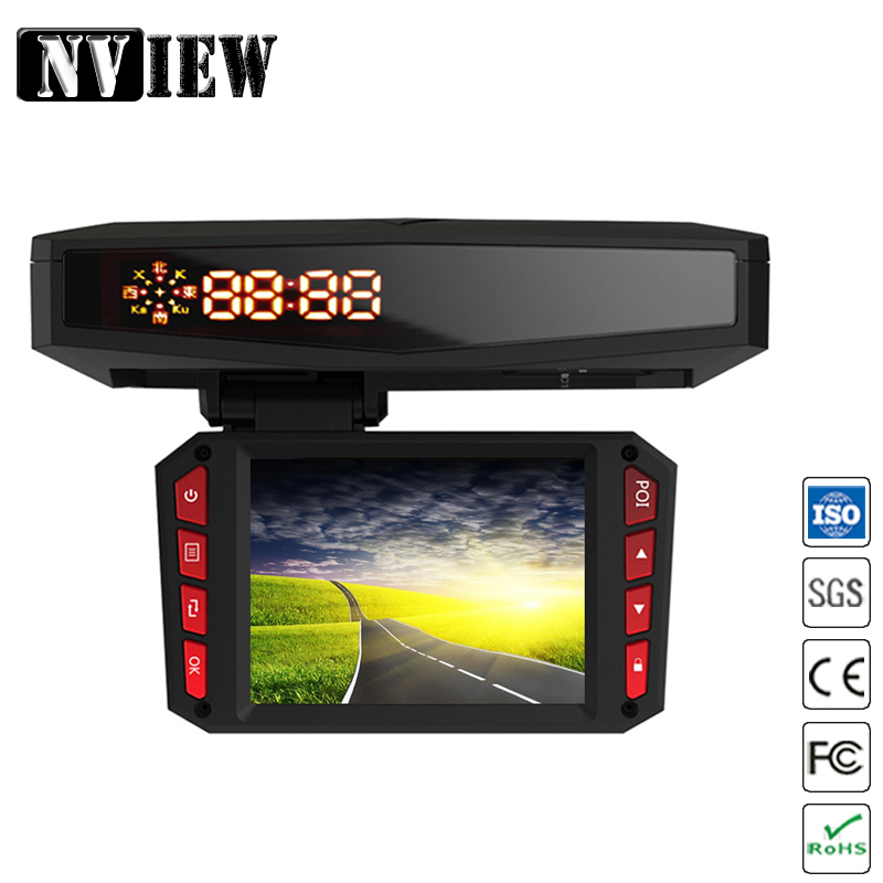 NVIEW 3 in1 voiture DVR 140 1080P TFT 2.0