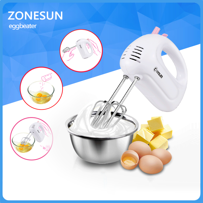 Household Mini Handheld Electric Mixer Automatic Stirred Bake Ware Dough Mixer Egg Cream Stirrer Kitchen Tools Cake Baking stainless steel manual push self turning stirrer egg beater whisk mixer kitchen wholesale price