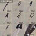 Accesorios para el cabello moda negro / beige de punto perla flor de la venda elástico del pelo de la pluma para la muchacha mujeres hairband