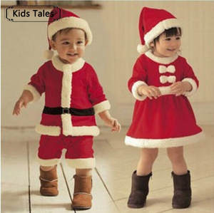 Boys Dress Sliders Christmas SR039 Santa-Claus Bebe Newborn-Baby Baby-Girls White And