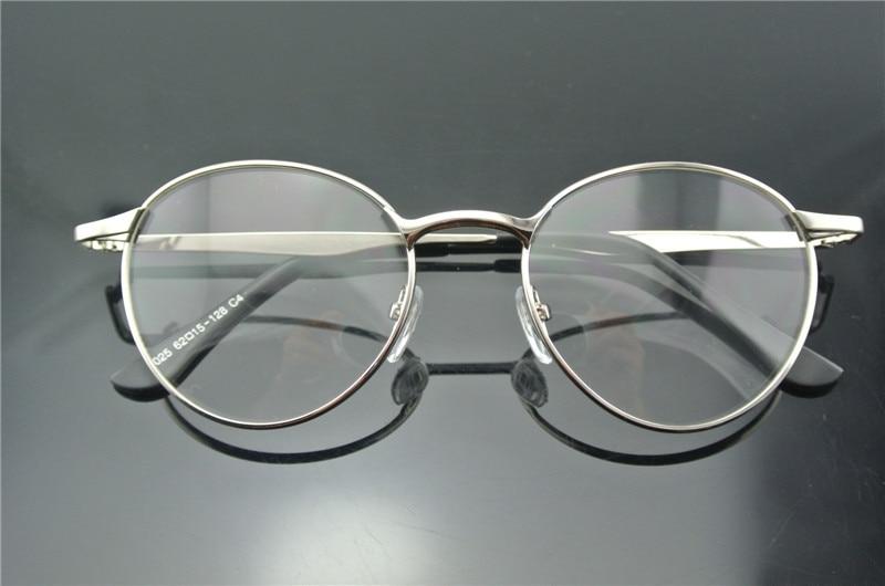 New Arrive Retro Men\'s Women Vintage Eyeglass Frames Silver oval ...