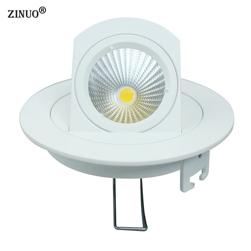 ZINUO 10W Recessed COB Led Downlight 90 Degree Rotation LED Ceiling Spot <font><b>light</b></font> Embedded Downlights Home Indoor AC110V 220V
