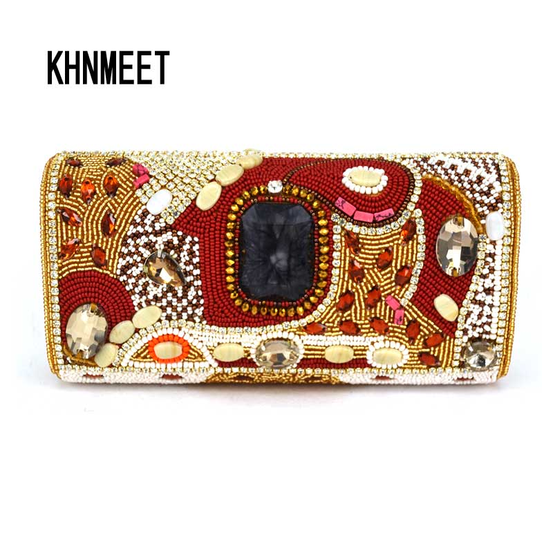 Fashion India Crystal Beaded Clutch Evening Bag Coral Color Diamond Pearl Women Evening Bag Prom Lady's Party Handbags SC488 pastoralism and agriculture pennar basin india