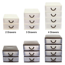 Hot New Drawer Durable Plastic Office Table Desktop Debris Cosmetic Drawer Style Holder Storage Box Hogard(China)