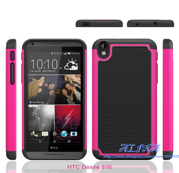 huge discount a5b35 1c575 US $339.0  Heavy Duty Hybrid Impact Armor Defender Case For HTC Desire 816  Combo Shockproof Football lines Cover For HTC Desire eye 200Pcs on ...