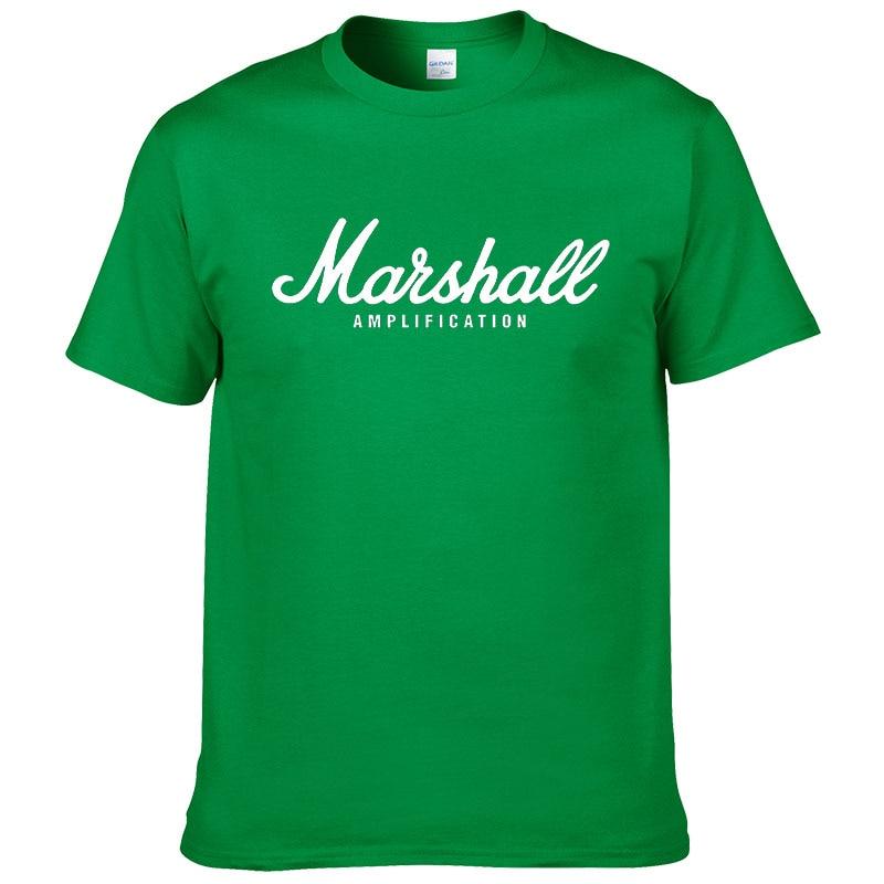 100% cotton Marshall T Shirt men short sleeves tee hip hop street wear for fans hipster 49