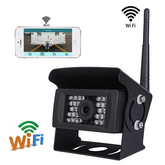 CCTV DC 12V 24V WiFi Wireless Vehicle Reverse Backup Camera For Truck RV Camper Trailer Support IOS and Android System