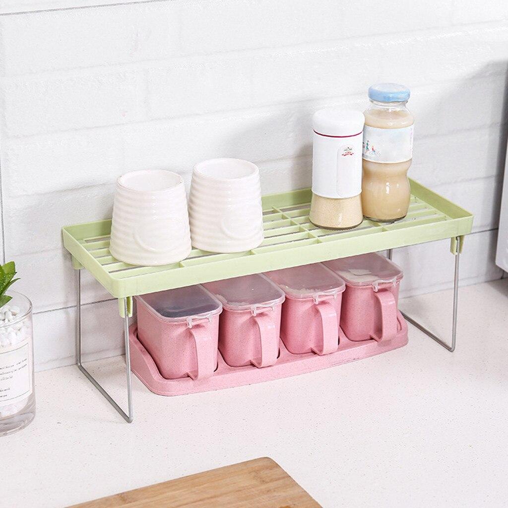 Kitchen Storage Standing Rack Kitchen Bathroom Double Layer