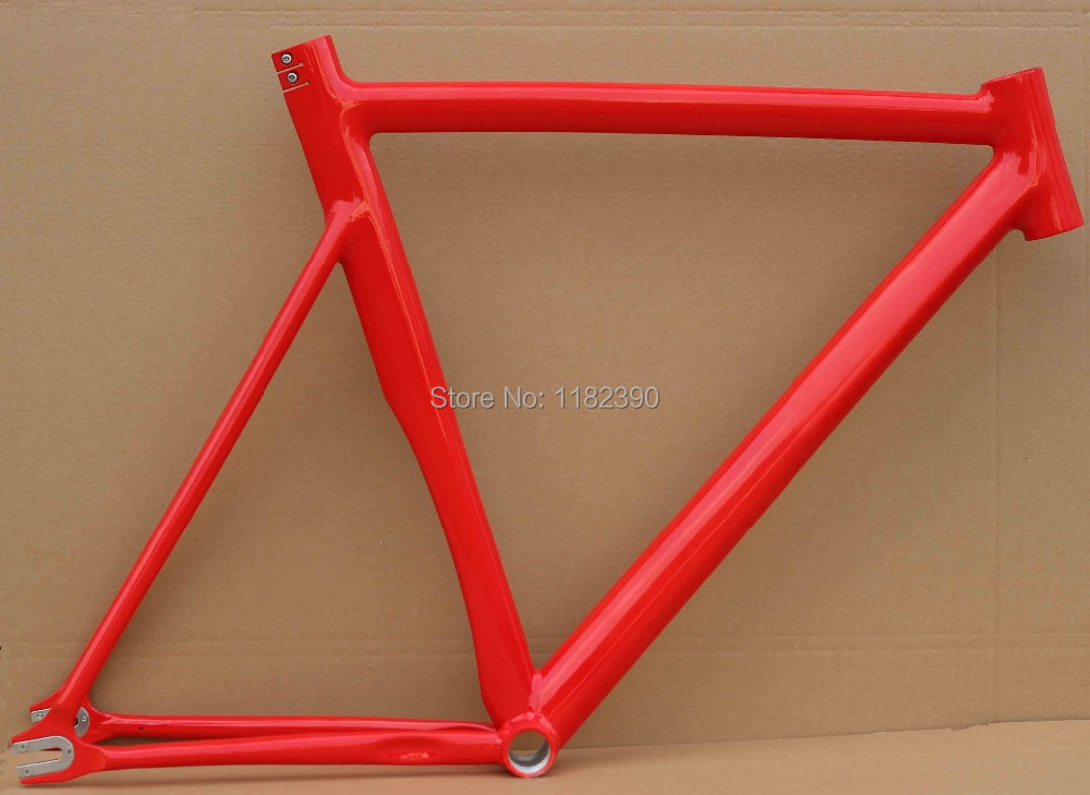 2015 top sale fixed gear bike frame custom size 59 cm flat polished professional handmade