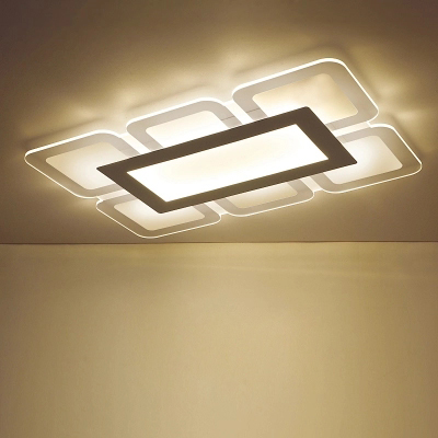 Acrylic ceiling lamp ultra thin square rectangle ceiling flat acrylic ceiling lamp ultra thin square rectangle ceiling flat light s led panel light surface mounted dimmable ac 85 265v in ceiling lights from lights aloadofball Choice Image