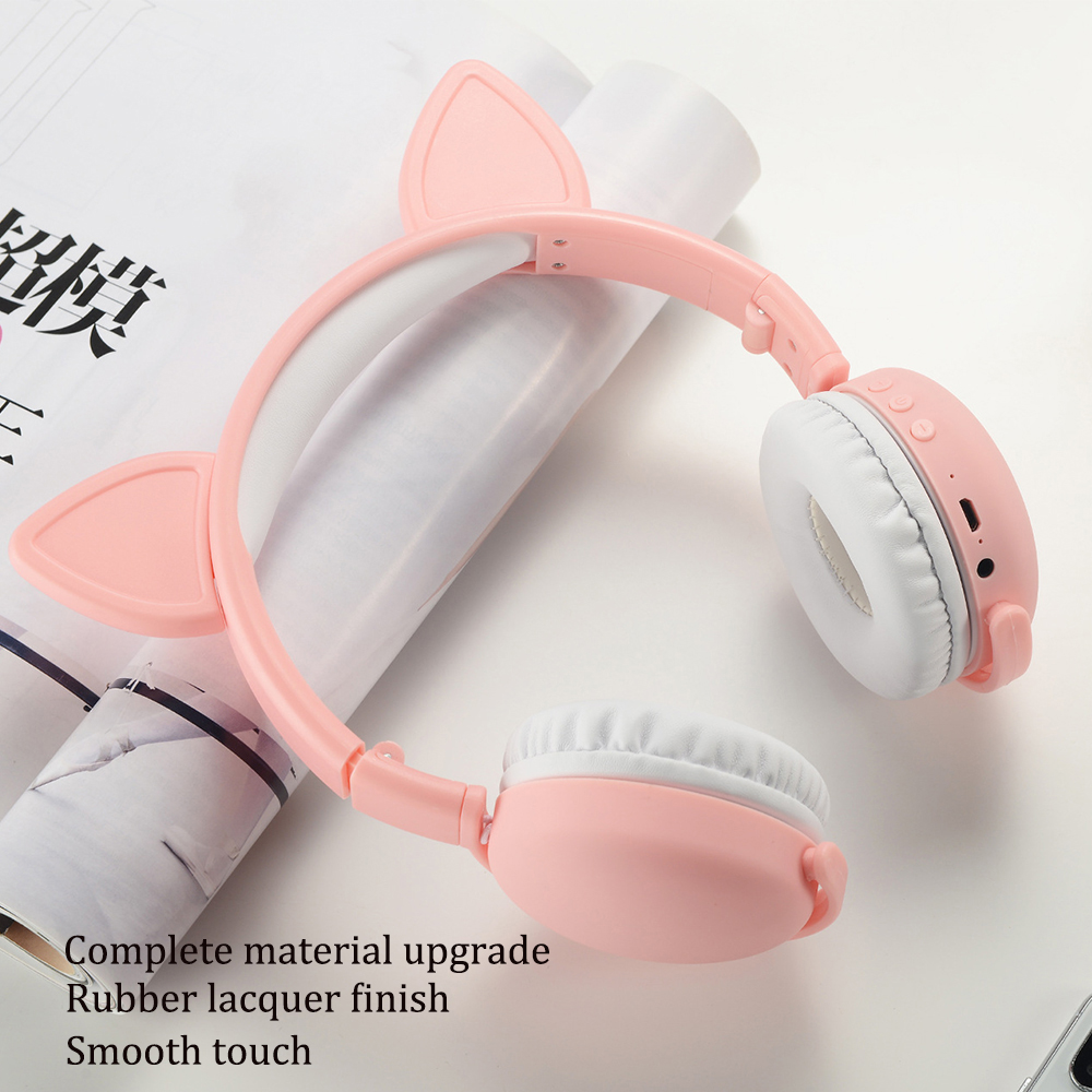 Cute Headphones Pink Bluetooth 5 0 Wireless Rabbit Cat Ear Headphone For Girl Kids Hd Stereo Headset With Microphone Buy At The Price Of 20 73 In Aliexpress Com Imall Com