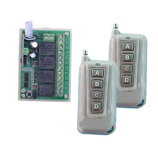 где купить 12V 4CH 1 Receiver 2Transmitter FR Wireless Remote Control Working Way is Adjustable 200M For Garage door / Window /Lamp по лучшей цене