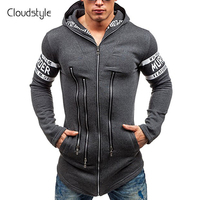 Cloudstyle 2018 Fashion Spring Summer Mens Muti Zipper Jackets Cool College Baseball Design Sportswear Mens Slim
